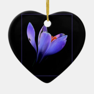 Purple CROCUS flower Christmas Ornament