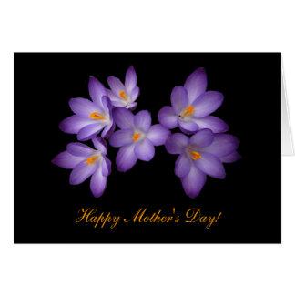 Purple Crocus Mother's Day Card