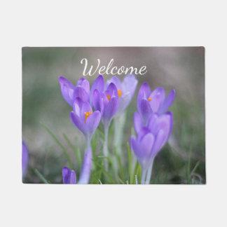 Purple crocuses doormat