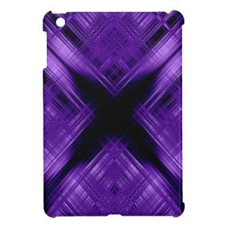 Purple cross and grid case for the iPad mini