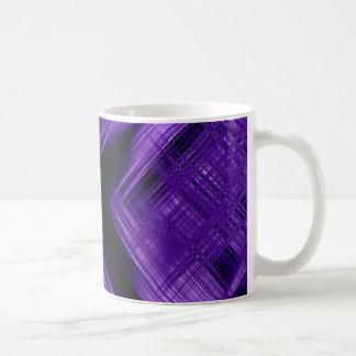 Purple cross and grid coffee mug
