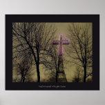 Purple Cross Poster