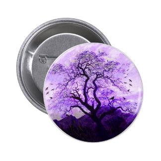 Purple Crow Tree Hills Raven Button