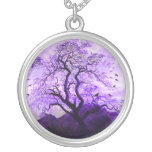 Purple Crow Tree Hills Raven Necklace