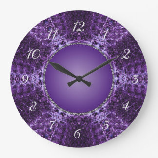 Purple Crown Jewel Large Clock