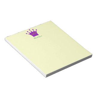 Purple Crown Notepad