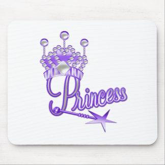 Purple Crown Princess Mouse Pads