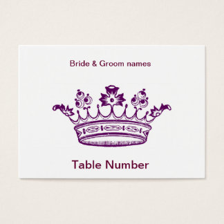 Purple Crown Reception Place cards