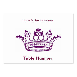 Purple Crown Reception Place cards Business Card