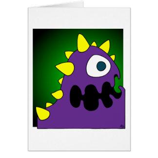 PURPLE CRUNCHER GREETING CARD