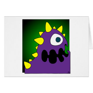 PURPLE CRUNCHER GREETING CARD