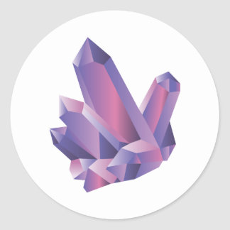Purple Crystal Cluster | Sticker