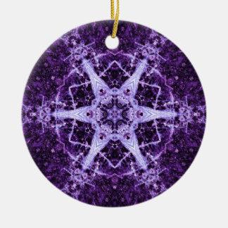 Purple Crystal Jewel Memory Ornament