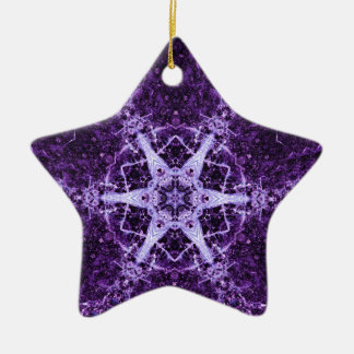 Purple Crystal Jewel Star Memory Ornament