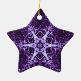 Purple Crystal Jewel Star Memory Ornament