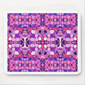 Purple Crystal Museum-Inspired Mouse Pad