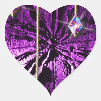 Purple Crystal Passion Heart Sticker