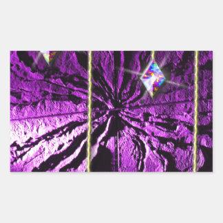 Purple Crystal Passion Rectangular Sticker