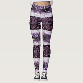 Purple Crystals Leggings