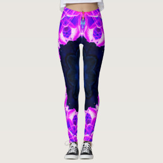 Purple Crystals Mandala Leggings