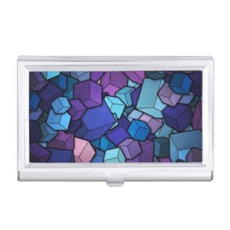 Purple Cubes Business Card Holder