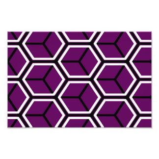 Purple cubes pattern photograph