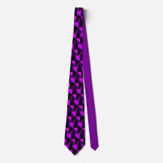 purple cubism tie