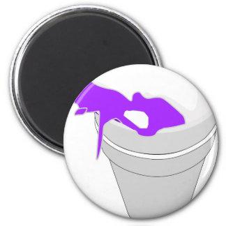 purple cup 6 cm round magnet
