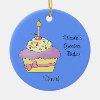 Purple Cupcake Christmas Ornament