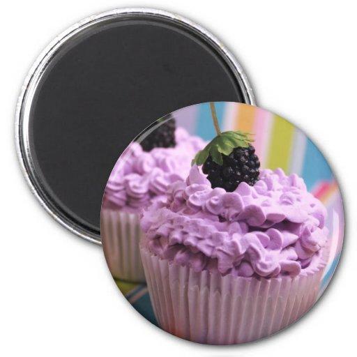 Purple Cupcake Fridge Magnet