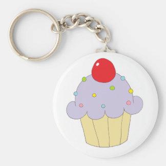 Purple Cupcake Key Ring