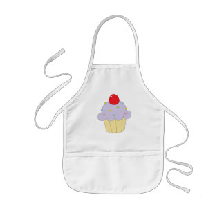 Purple Cupcake Kids Apron