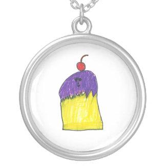 Purple Cupcake Necklace