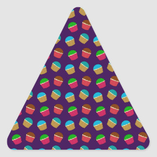 Purple cupcake pattern stickers