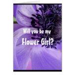 Purple Curls Greeting Card