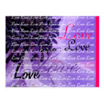 Purple Curls Postcard
