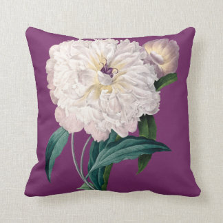 Purple cushion with white peony