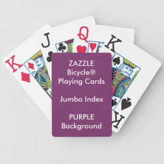 PURPLE Custom Bicycle® Jumbo Index Playing Cards