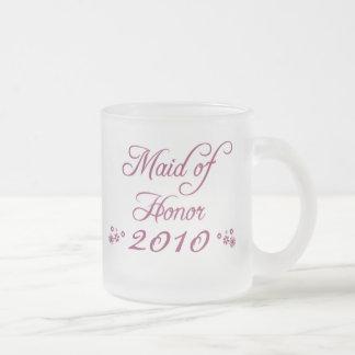 Purple customisable bride's maid 2010 frosted mug