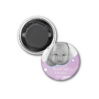 Purple customizable baby magnet