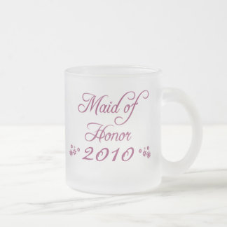 Purple customizable bride's maid 2010 frosted mug
