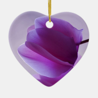 Purple Cyclamen Christmas Ornament