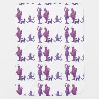 Purple Cyclopes Receiving Blanket