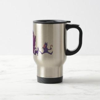 Purple Cyclopes Stainless Steel Travel Mug