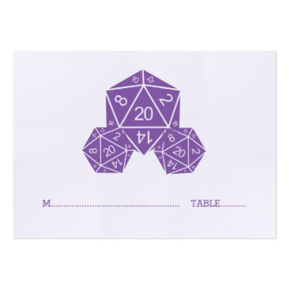 Purple D20 Dice Wedding Place Card Pack Of Chubby Business Cards