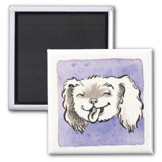Purple D Square Magnet