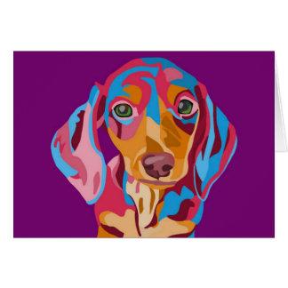 Purple Dachshund Greeting Card
