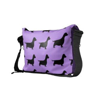 Purple Dachshund Wiener Dog Bag Messenger Bag