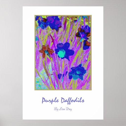 'Purple Daffodils'  Poster