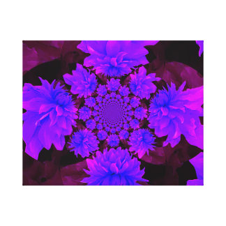 Purple Dahlia Abstract Stretched Canvas Print